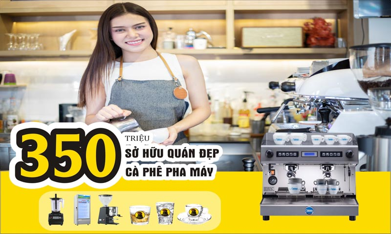 Cách mở mô hình kinh doanh quán cà phê pha máy diện tích trên 150m2 hiệu quả
