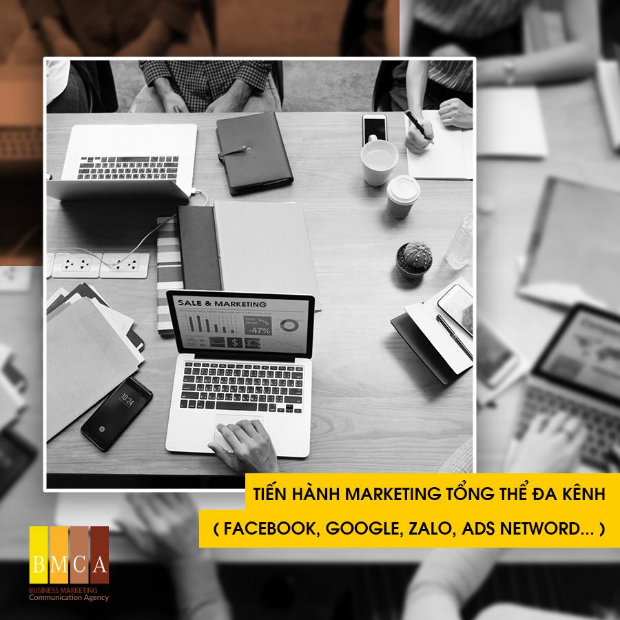 Tiến hành marketing tổng thể đa kênh