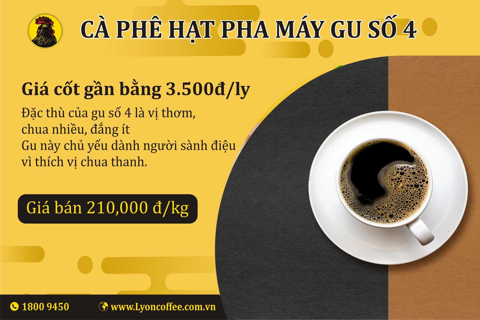 Cà phê hạt espresso gu số 4