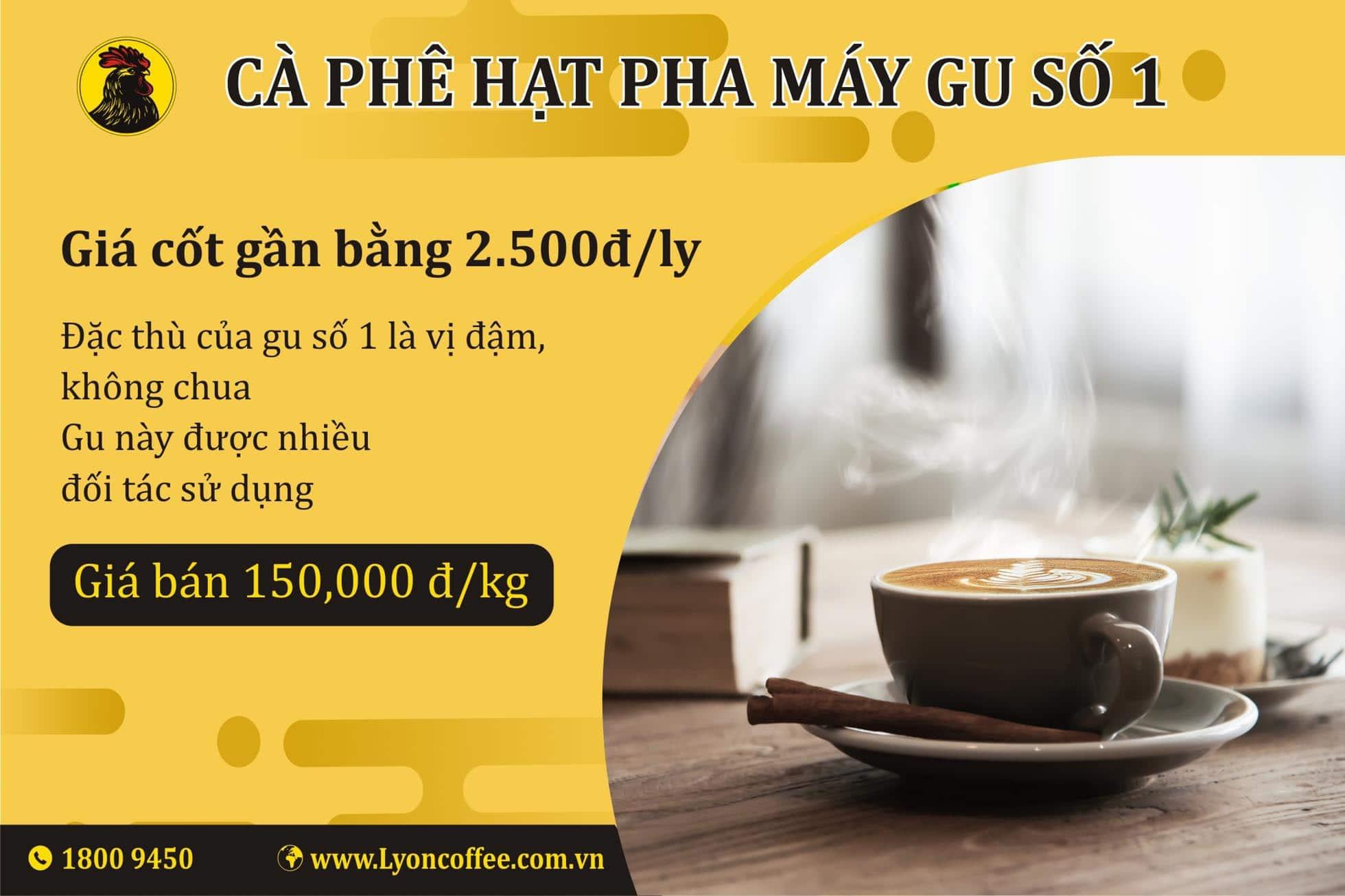 Mua cafe pha máy espresso gu số 1