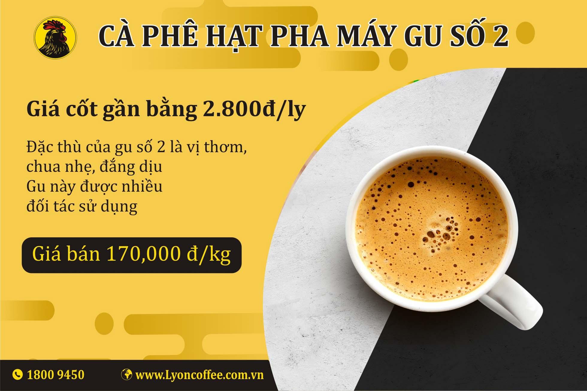Cà phê hạt espresso gu số 2
