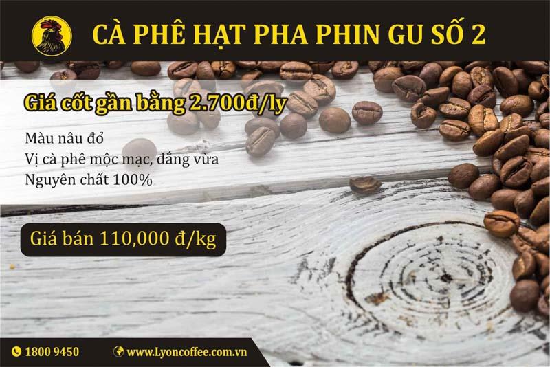 Bán gu cà phê hạt rang xay nguyên chất số 2 dòng pha phin của Lyon Coffee