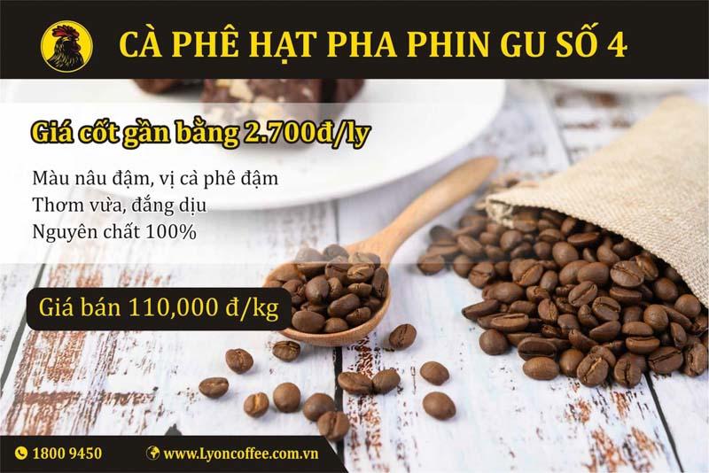 Mua cafe hạt nguyên chất gu số 4 dòng pha phin của Lyon Coffee