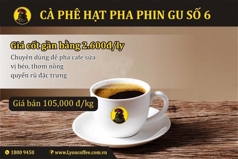 Gu cafe số 6 dòng pha phin của Lyon Coffee