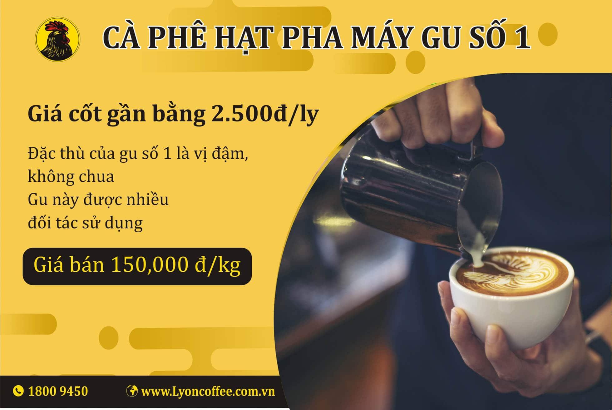 Cafe Espresso gu số 1 - Các loại cà phê pha bằng máy