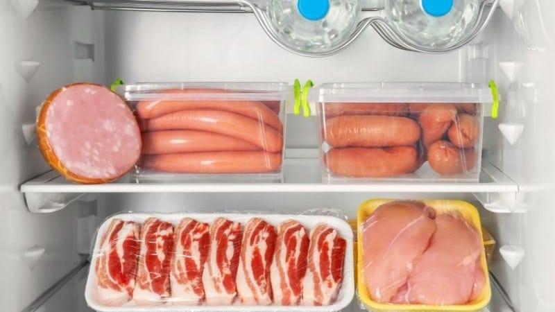 Cách bảo quản thời gian các sản phẩm từ thịt và gia cầm trong tủ lạnh