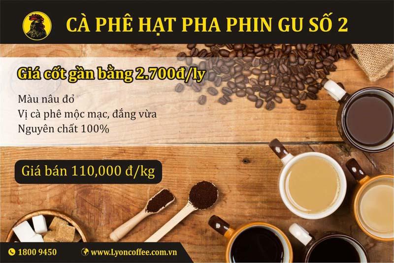 Gu cafe sạch ngon nguyên chất và ngon số 2 dòng pha phin của Lyon Coffee