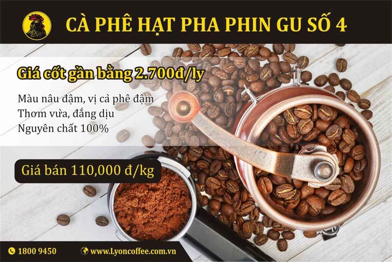 Gu cà phê rang sạch và ngon số 4 dòng pha phin của Lyon Coffee