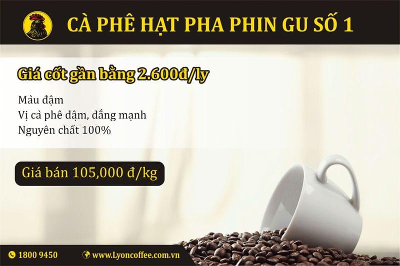 Cà phê hạt pha phin gu số 1