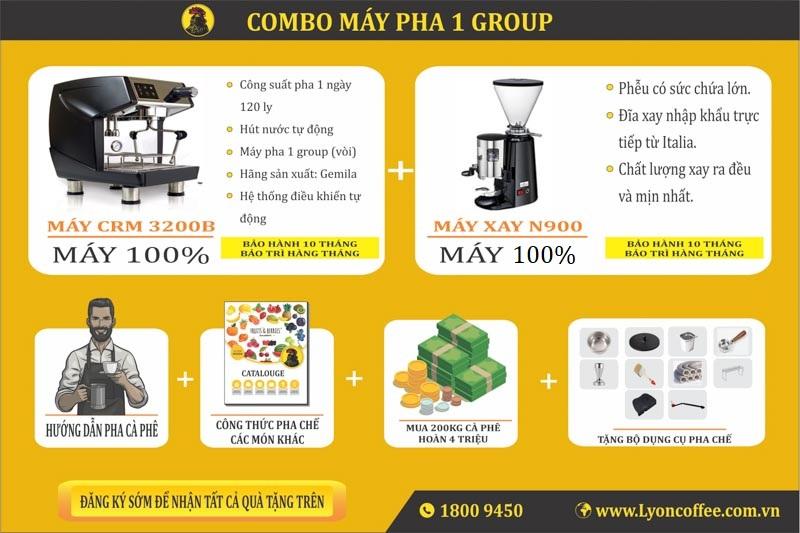Máy pha cà phê giá rẻ dành cho quán nhỏ trọn bộ 20 triệu