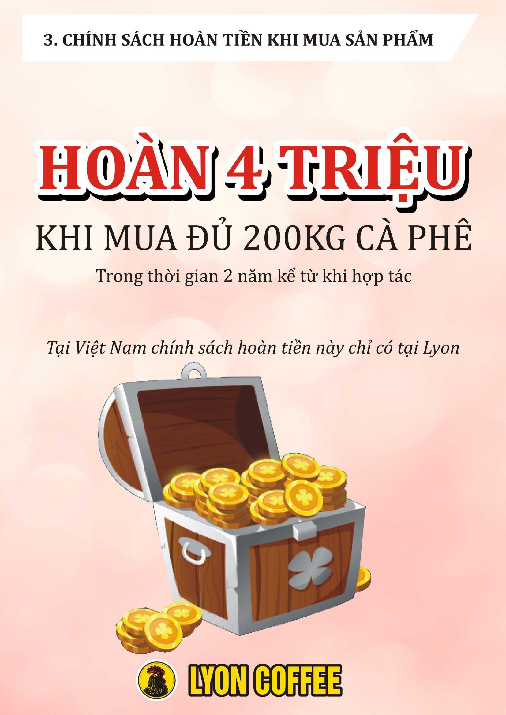 Chính sách thưởng 4 triệu đồng khi cung cấp máy pha cafe giá rẻ