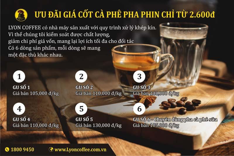 Nguồn cung cấp cà phê chất lượng và giá mua ổn định khi mở quán cafe hạt nguyên chất pha phin