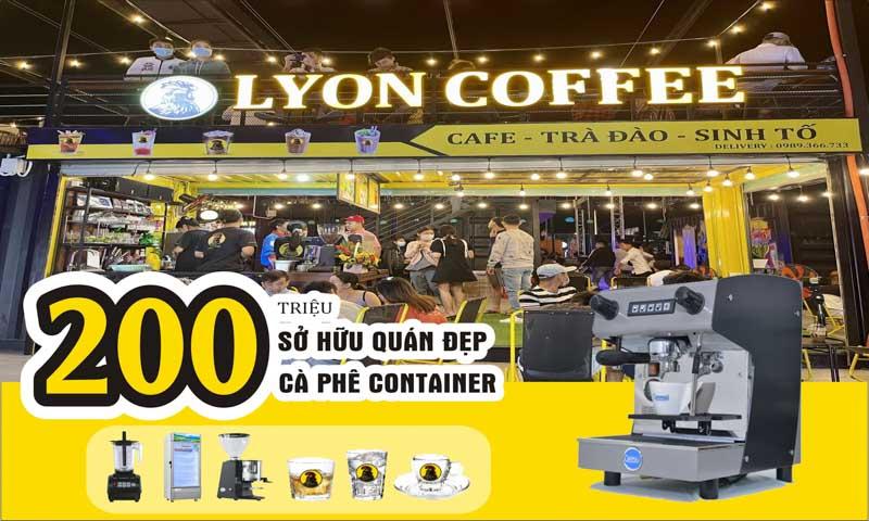 Mở quán cafe mô hình container cần bao nhiêu với 200 triệu