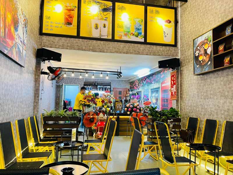 mô hình mở quán cafe nhỏ đẹp
