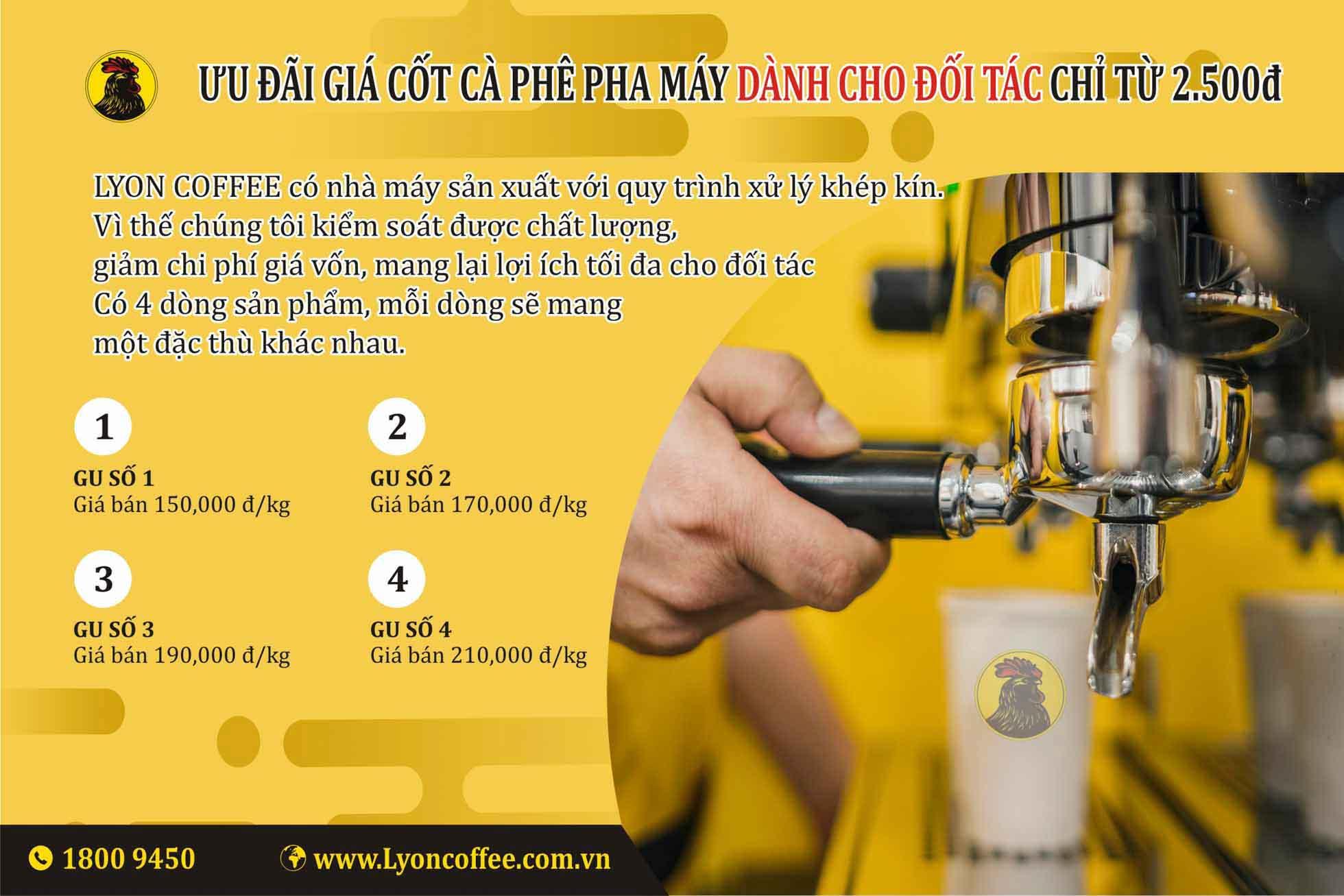 Bảng giá cafe pha máy khi kinh doanh mở quán cà phê pha máy