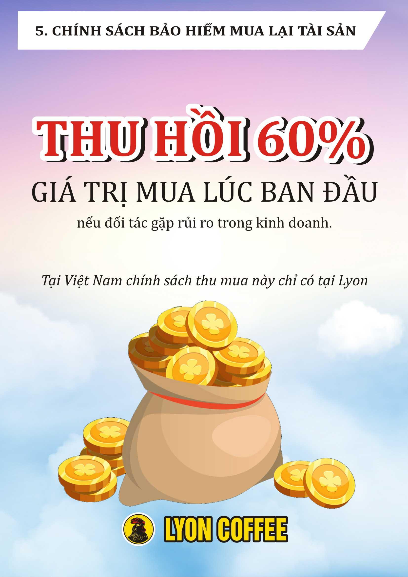 Tại Việt Nam, chỉ tại Lyon Coffee mới có chính sách bảo hiểm 60%