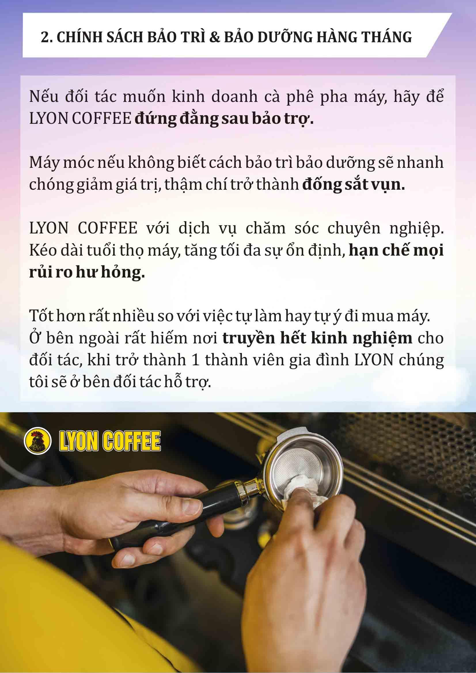Mua máy pha cafe espresso ở đâu có chính sách bảo trì bảo dưỡng thiết bị máy móc