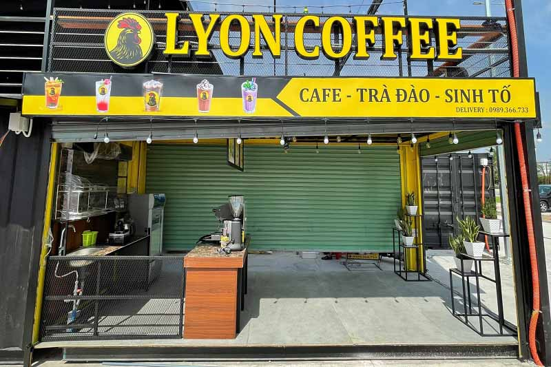 Thiết kế điện, đèn, nước, âm thanh trong quán cà phê container