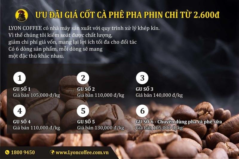 Tìm nguồn cung cấp các loại cafe pha phin dành cho quán cà phê