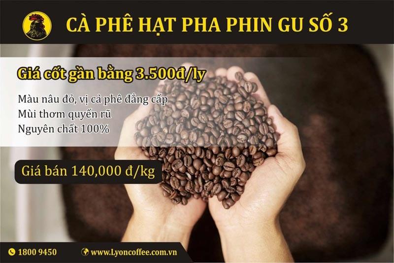 cà phê rang xay nguyên chất gu số 3