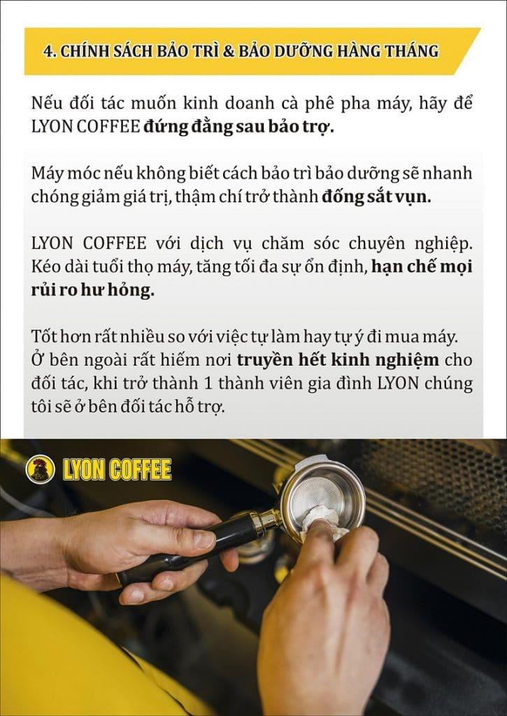Chính sách bảo trì, bảo dưỡng máy pha cà phê