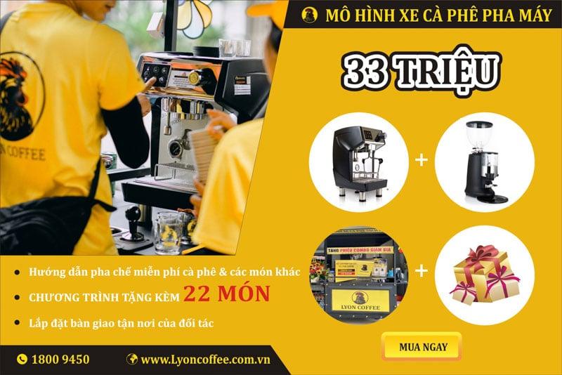 Kinh doanh mô hình mua xe đẩy bán cà phê chỉ 33 triệu đồng