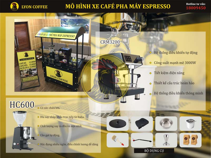Chi phí thuê mô hình xe cafe pha máy mang đi